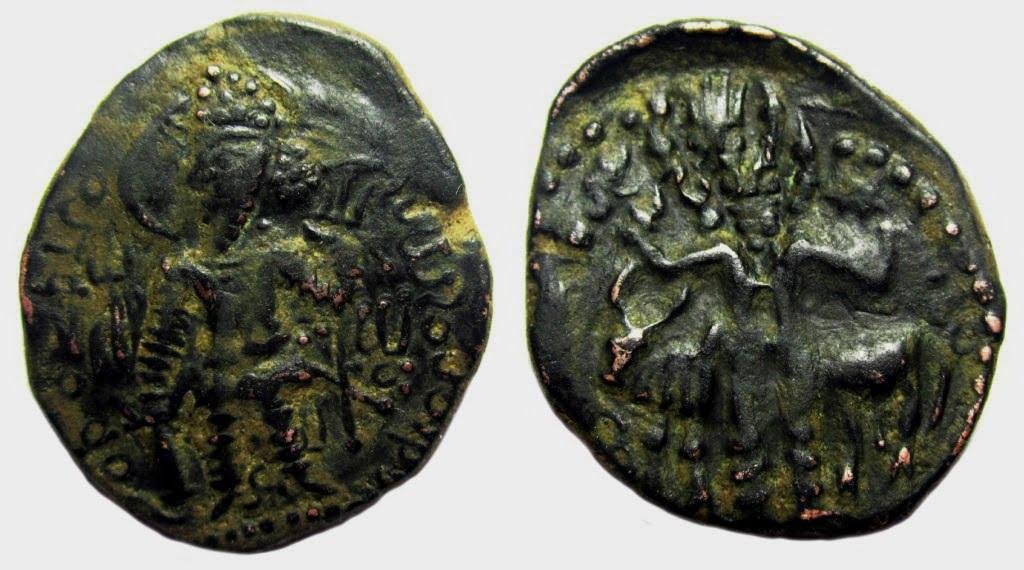 Kushano-Sasanian, AE drachm, Peroz I