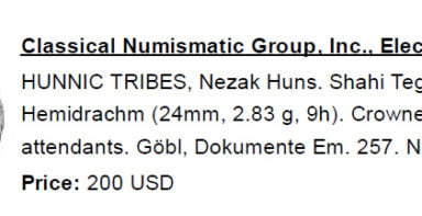 Western Turks, BI drachm, Nezak type with Brahmi legend