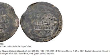 Great Mongols, BI fals, temp. Chingiz Khan, Badakhshan