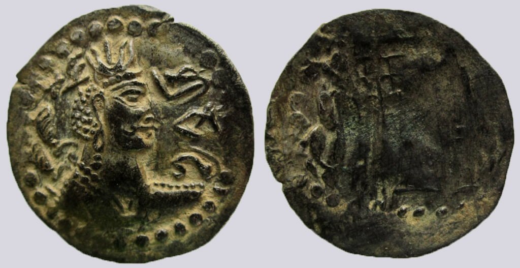 Western Turks, BI drachm, Nezak type with Brahmi legend