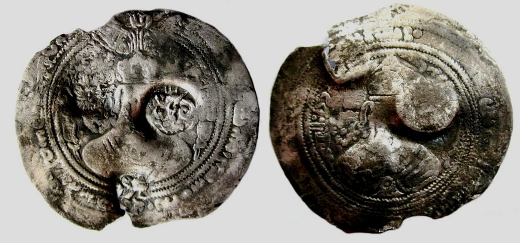 Western Turks, AR drachm, Martan Shah Spur, RARE