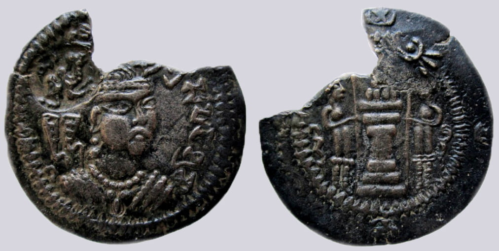 Western Turks, AE drachm, SriSamarasuna