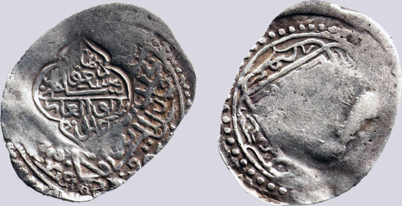 Timurid, AR tanka, Sultan Mas'ud, countermark, RARE