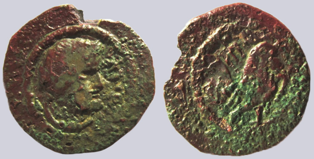 Western Turk Dynasties, AE unit, Besoto/Besut, RARE