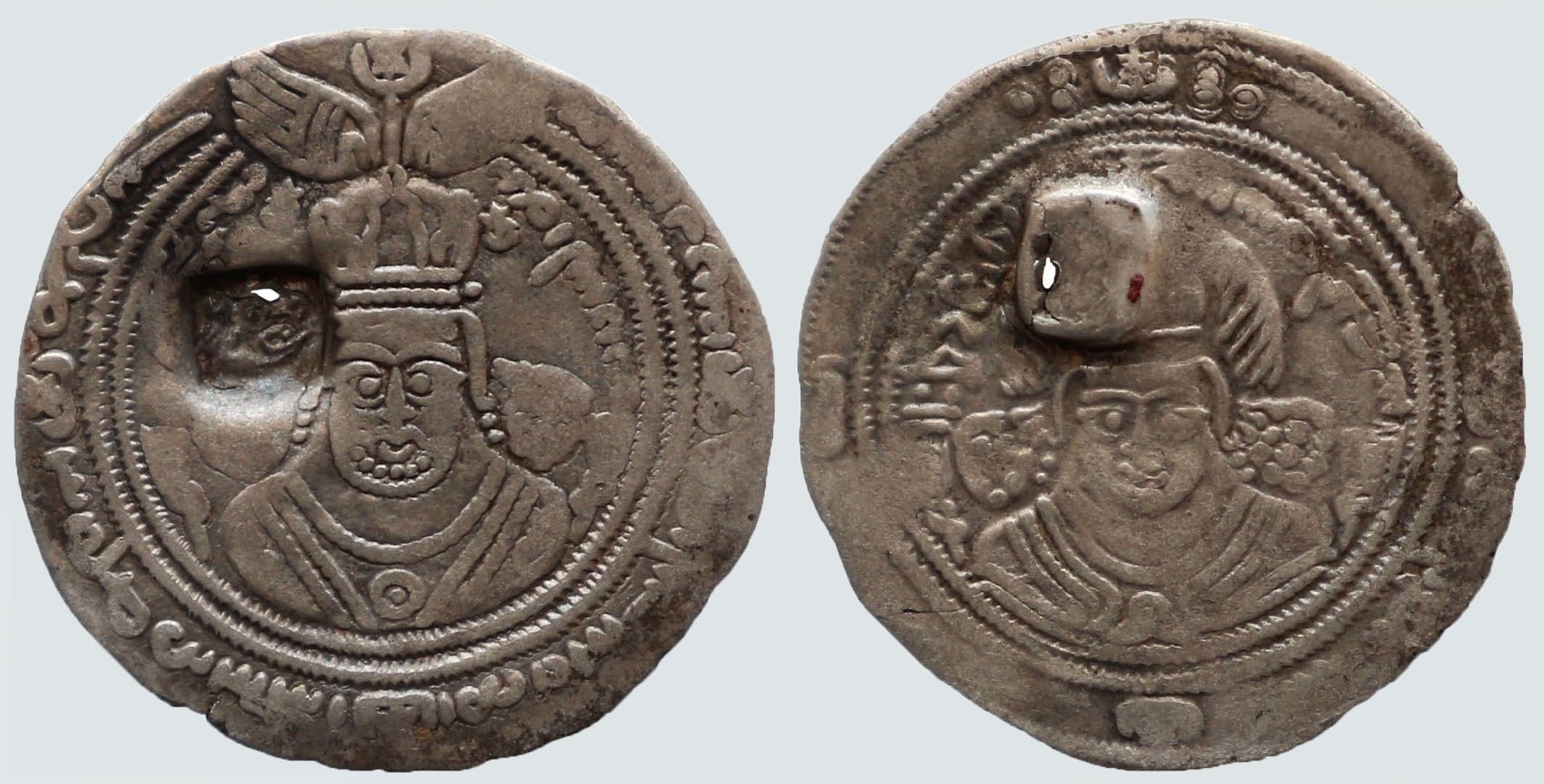 Western Turks, AR drachm, Spur Martan Shah, RARE