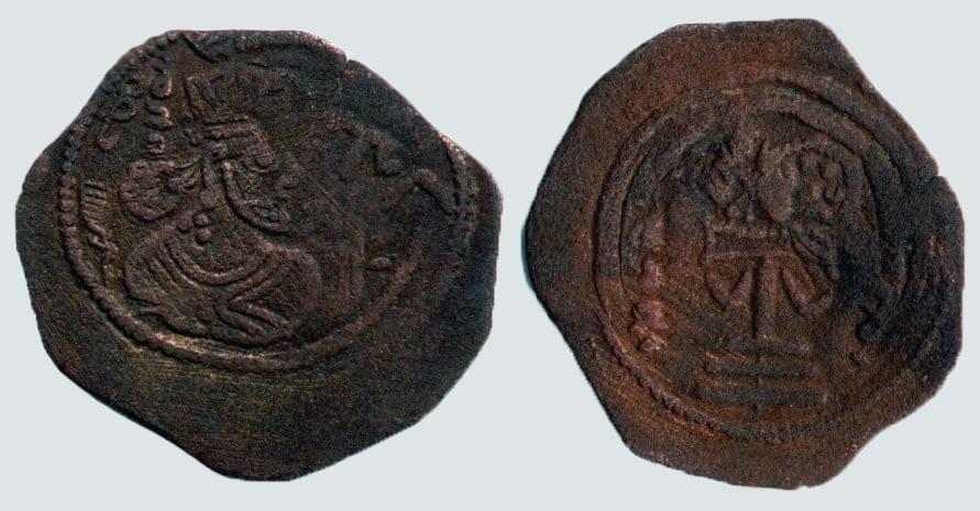 Arab-Sasanian, AE unit, Unknown Ruler