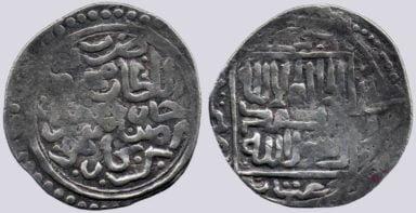 Timurid, AR tanga, Timur with Mahmud Khan, Hilla