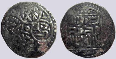 Timurid, AR tanga, Timur w. Mahmud Khan, imitation