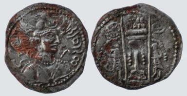 Western Turks, AE drachm, Nezak Malka, Type 221