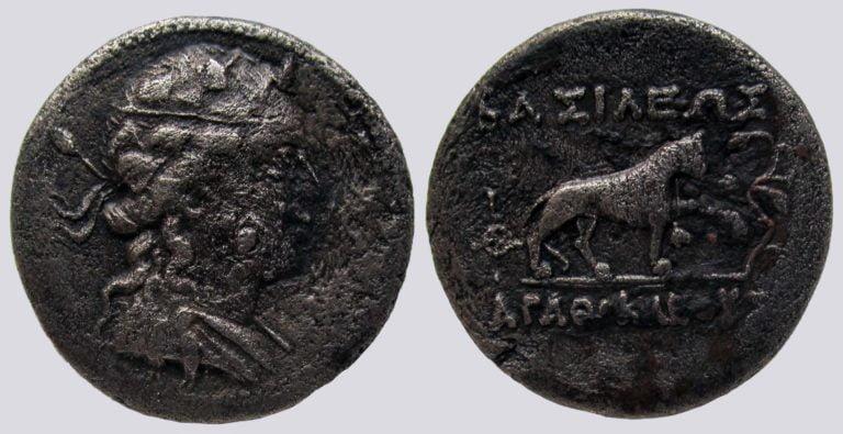 Indo-Greek Kingdoms, Cu-Ni dichalkon, Agathocles