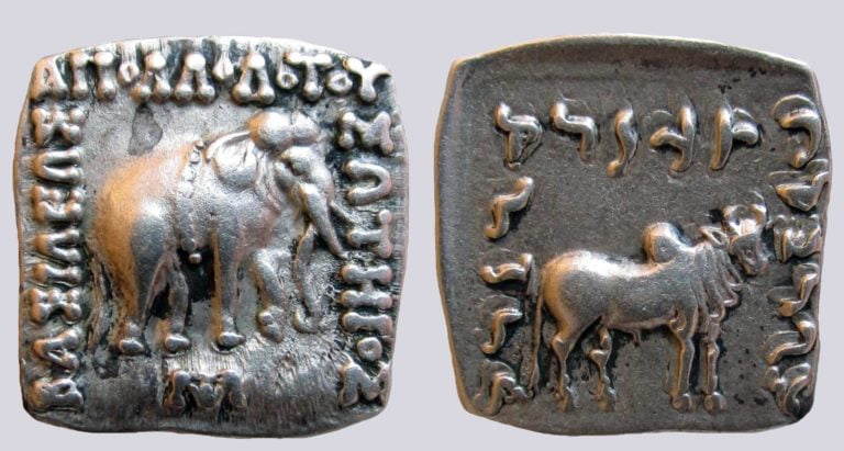 Indo-Greek Kingdoms, AR drachm, Apollodotos I
