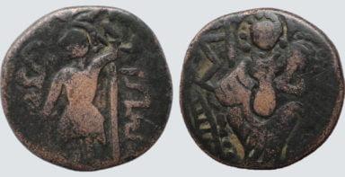 Alchon Huns, AE unit/stater, Mihirakula, 515-542AD