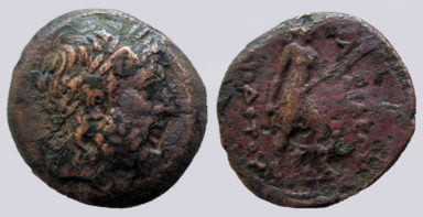 Bactrian Greeks, AE double unit, Diodotos II Theos