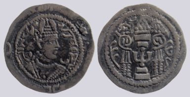 "Yabghu of Tokharestan, AR drachm, ""Hormazd IV"" imitation"