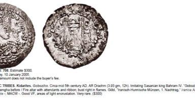 Hunnic Tribes, AR drachm, Tobazini /Goboziko, RARE