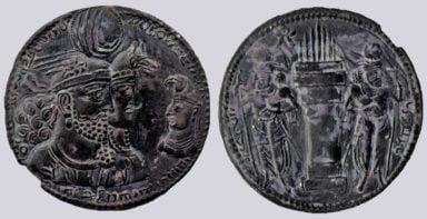 Sasanians, AR drachm, Varhran / Bahram II