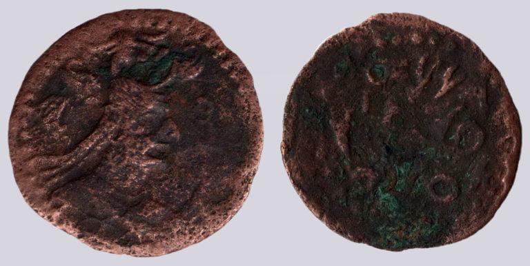 Western Turks, AE 1/2 drachm, Bactrian Yabghus, Type 270B