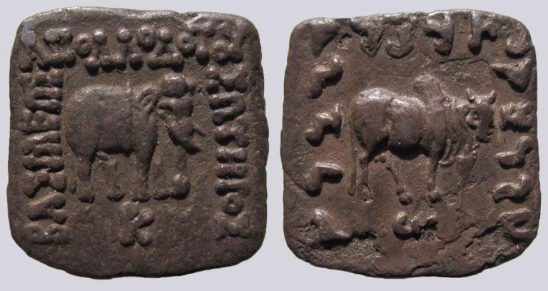 Indo-Greek Kingdoms, AR drachm, Apollodotos I Soter