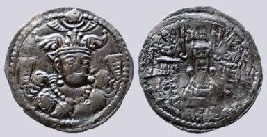 Kidarites, AR drachm, Buddhatala in Gandhara, Type 18
