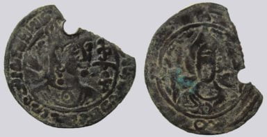 Western Turks, AE drachm, Tegin of Khorasan, Type 208