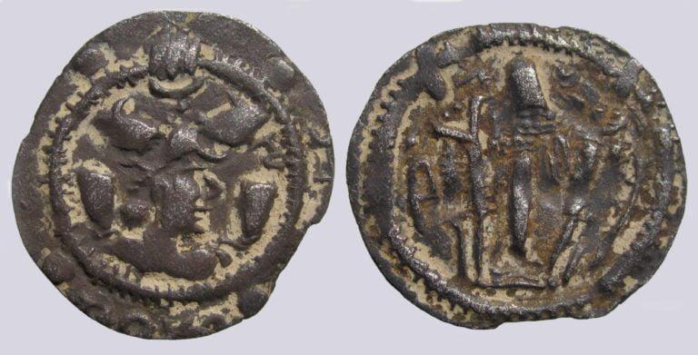 Hephthalites in Bactria, AR drachm, Ruler of Termes