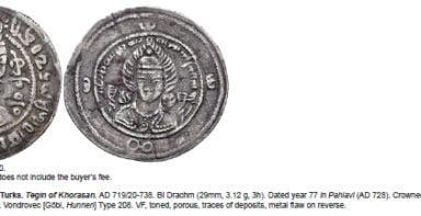 Western Turks, AR drachm, Tegin of Khorasan, Type 208