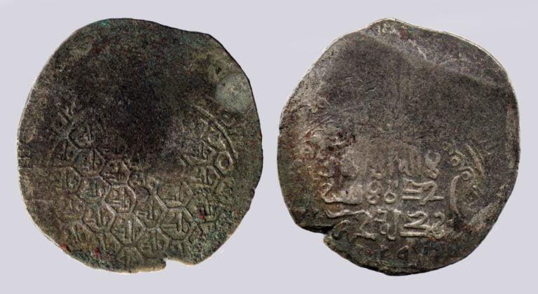 Ghorid, debased AV dinar, 'Malik' in honeycombs