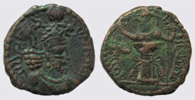 Kushano-Sasanians, AE drachm, Ohrmazd / Hormizd I