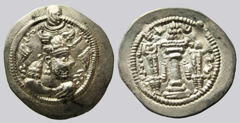 Sasanians, AR drachm, Peroz, WH