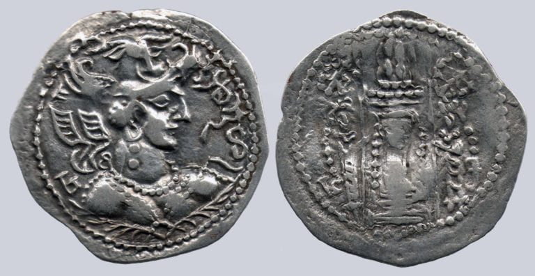 Western Turks, AR drachm, Nezak Malka, Type 221
