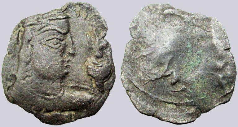 Alchon Huns, BI drachm, anonymous ruler, Type 146
