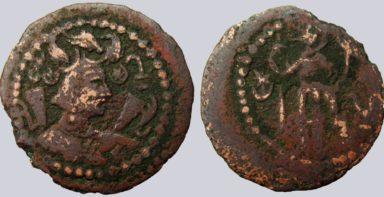Western Turks, AR ½ drachm, Later Nezak, Type 268
