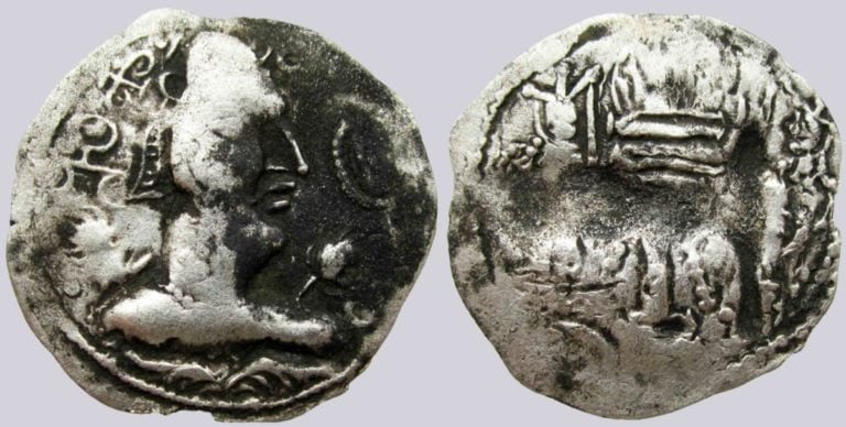 Alchon Huns, AR drachm, Khingila, Type 70