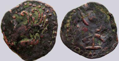 Western Turks, AE ½ drachm, Western Turk Influence, Type 210A