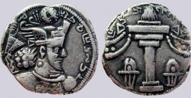 Sasanians, AR drachm, Varhran / Bahram IV