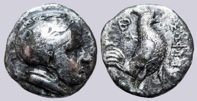 Bactrian Greeks, AR drachm, Sophytos, 246/5-235 BC