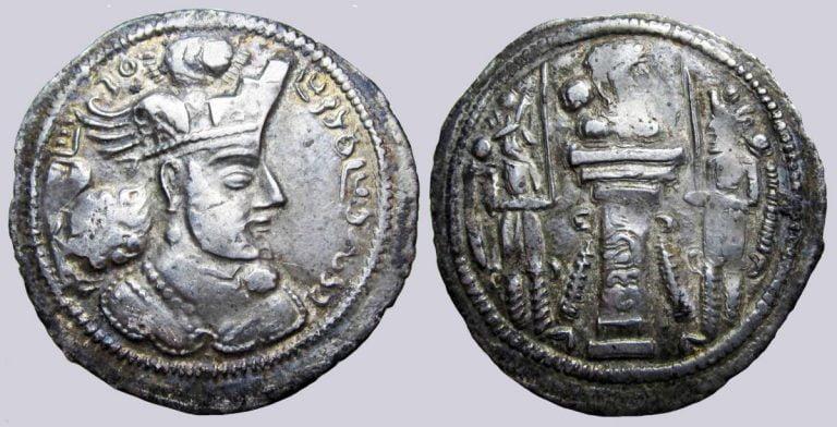 Sasanians, AR drachm, Varhran / Bahram IV, Herat