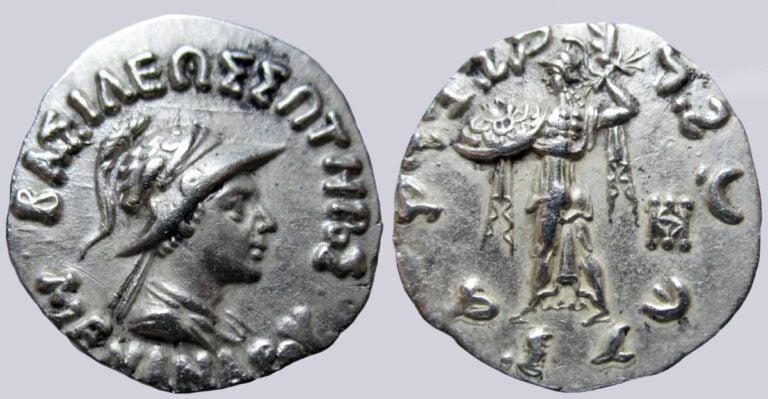 Indo-Greek Kingdoms, AR drachm, Menander I