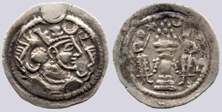 Western Turk Dynasty, AR drachm, imitation of Kavadh I, Type 261A