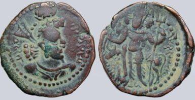 Kushano-Sasanians, AE drachm, Hormazd I Kushanshah