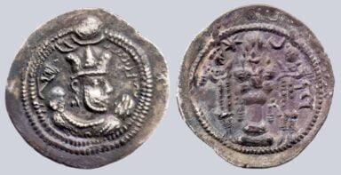 Sasanians, AR drachm, Valkash / Balash, LYW
