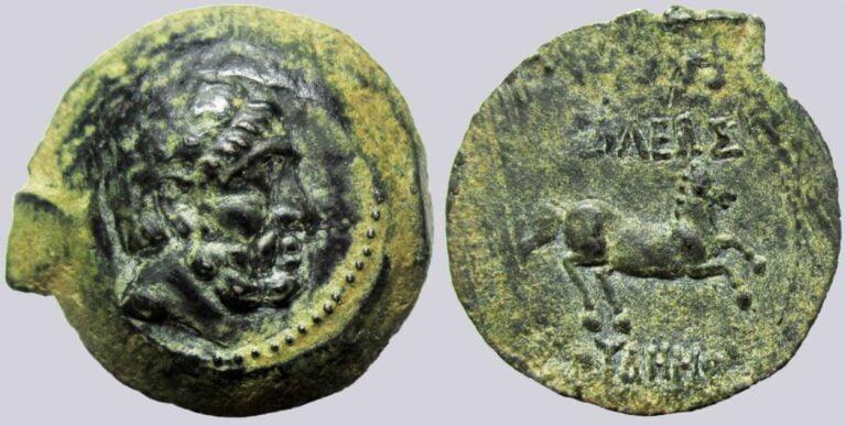 Bactrian Greeks, AE tri-chalkon, Euthydemos I