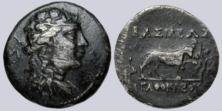Indo-Greek Kingdoms, Cu-Ni chalkon, Agathokles
