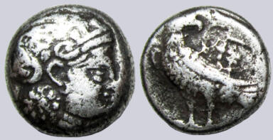 Bactrian Greeks, AR hemidrachm, local issues, 285-280BC