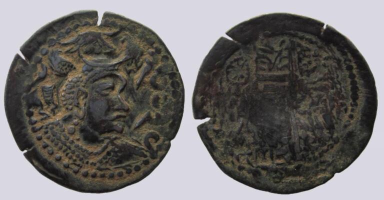 Western Turks, BI drachm, Later Nezak, Type 200